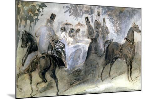 The Elegant Horse and Riders, C1822-1892-Constantin Guys-Mounted Giclee Print