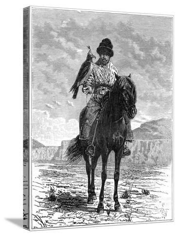 A Falconer, Turkestan, 19th Century- Delort-Stretched Canvas Print