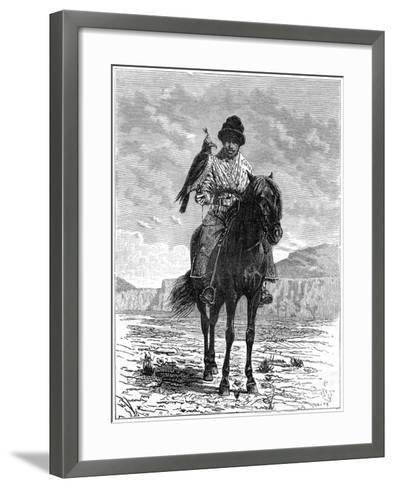A Falconer, Turkestan, 19th Century- Delort-Framed Art Print