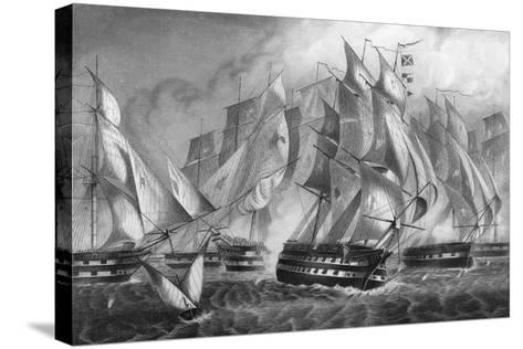 Sir Charles Napier's Victory Off Cape St Vincent, 5 July 1833-DJ Pound-Stretched Canvas Print