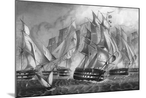 Sir Charles Napier's Victory Off Cape St Vincent, 5 July 1833-DJ Pound-Mounted Giclee Print