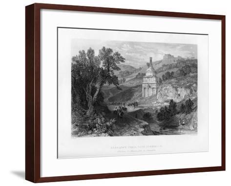 Absalom's Tomb, Near Jerusalem, Israel, 1841-E Redclyffe-Framed Art Print