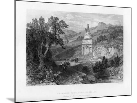 Absalom's Tomb, Near Jerusalem, Israel, 1841-E Redclyffe-Mounted Giclee Print