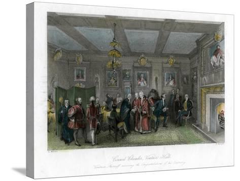 Council Chamber, Vintners' Hall, City of London-E Redclyffe-Stretched Canvas Print