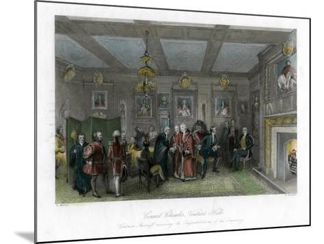 Council Chamber, Vintners' Hall, City of London-E Redclyffe-Mounted Giclee Print
