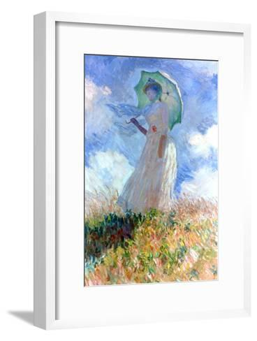 Woman with Umbrella Turned to the Left, 1886-Claude Monet-Framed Art Print