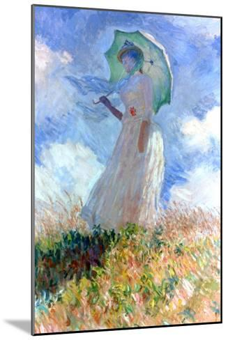 Woman with Umbrella Turned to the Left, 1886-Claude Monet-Mounted Giclee Print
