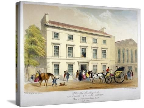 Literary Society Building on Borough Road, Southwark, London, 1840-D McKewan-Stretched Canvas Print