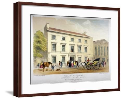 Literary Society Building on Borough Road, Southwark, London, 1840-D McKewan-Framed Art Print