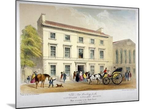 Literary Society Building on Borough Road, Southwark, London, 1840-D McKewan-Mounted Giclee Print