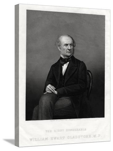 William Ewart Gladstone Mp, British Liberal Prime Minister, 1880-DJ Pound-Stretched Canvas Print