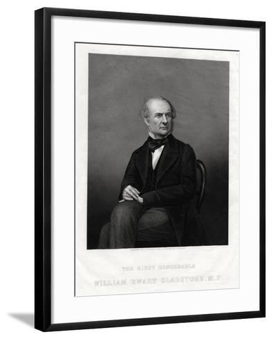 William Ewart Gladstone Mp, British Liberal Prime Minister, 1880-DJ Pound-Framed Art Print