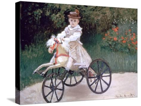 Jean Monet on a Mechanical Horse, 1872-Claude Monet-Stretched Canvas Print