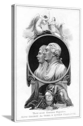 King George III and Queen Charlotte, 19th Century-Cooper-Stretched Canvas Print