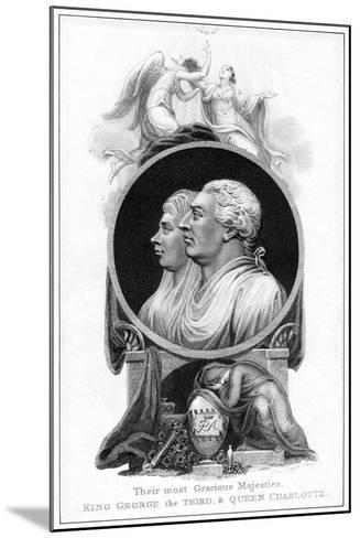 King George III and Queen Charlotte, 19th Century-Cooper-Mounted Giclee Print