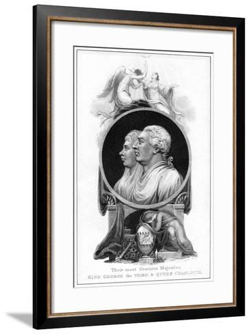 King George III and Queen Charlotte, 19th Century-Cooper-Framed Art Print