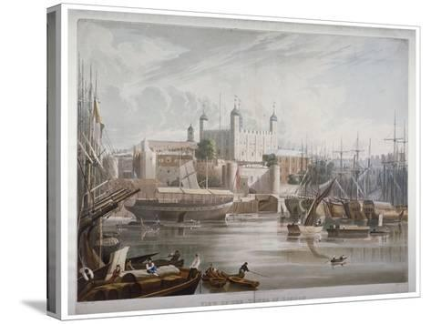 Tower of London, 1819-Daniel Havell-Stretched Canvas Print