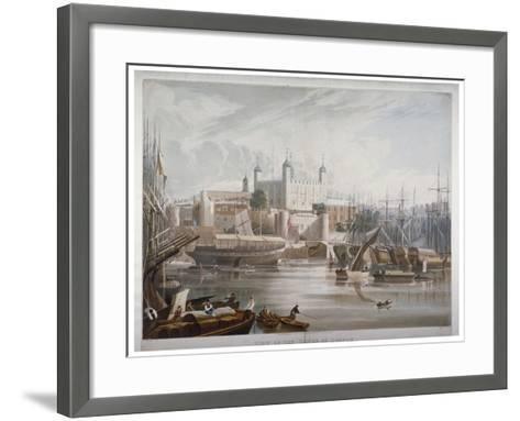 Tower of London, 1819-Daniel Havell-Framed Art Print