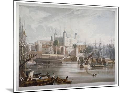 Tower of London, 1819-Daniel Havell-Mounted Giclee Print