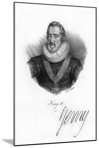 Henry IV of France, (1553-161)- Delpech-Mounted Giclee Print