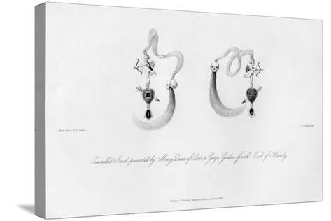 Enamelled Jewel Presented by Mary Queen of Scots, to George Gordon, 16th Century-CJ Smith-Stretched Canvas Print