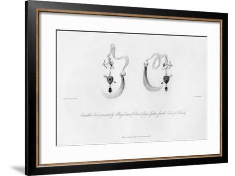 Enamelled Jewel Presented by Mary Queen of Scots, to George Gordon, 16th Century-CJ Smith-Framed Art Print