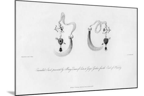 Enamelled Jewel Presented by Mary Queen of Scots, to George Gordon, 16th Century-CJ Smith-Mounted Giclee Print