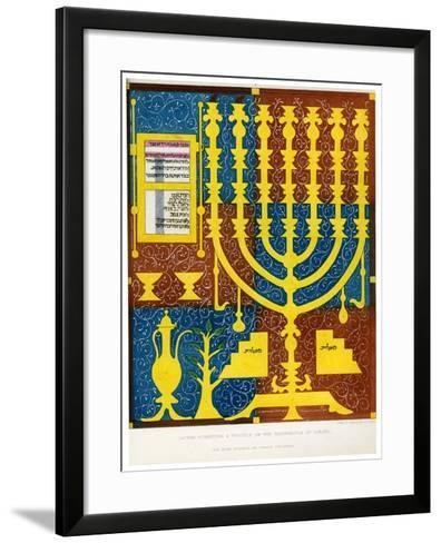 Sacred Furniture and Vessels of the Tabernacle of Israel, 15th Century-CJ Smith-Framed Art Print