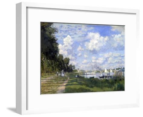 The Marina at Argenteuil, 1872-Claude Monet-Framed Art Print