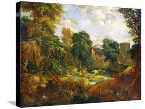 Flanders Landscape, 17th or Early 18th Century-Cornelis Huysmans-Stretched Canvas Print