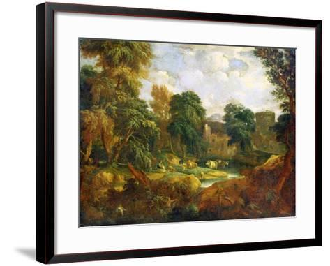 Flanders Landscape, 17th or Early 18th Century-Cornelis Huysmans-Framed Art Print