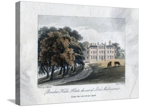 Brocket Hall, Herts, the Seat of Lord Melbourne, 1817-Daniel Havell-Stretched Canvas Print
