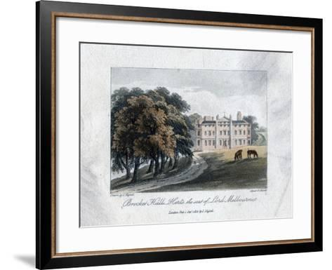 Brocket Hall, Herts, the Seat of Lord Melbourne, 1817-Daniel Havell-Framed Art Print