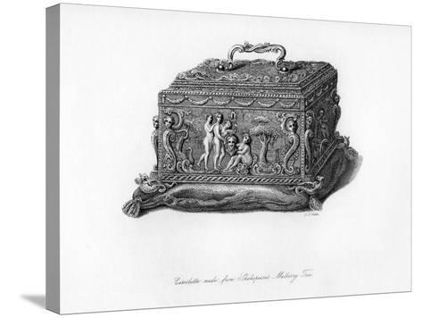 Carved Cassolette Made from the Wood of Shakespeare's Mulberry Tree, C18th Century-CJ Smith-Stretched Canvas Print