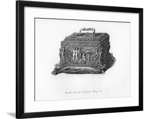Carved Cassolette Made from the Wood of Shakespeare's Mulberry Tree, C18th Century-CJ Smith-Framed Art Print