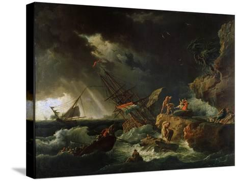 Storm at the Sea, 1740S-Claude Joseph Vernet-Stretched Canvas Print