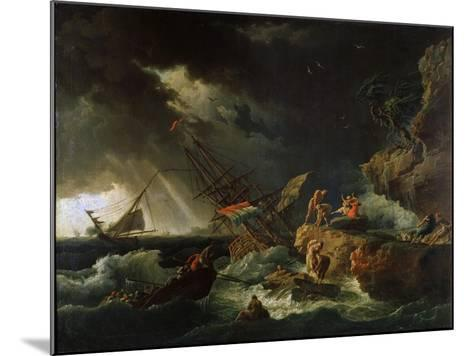 Storm at the Sea, 1740S-Claude Joseph Vernet-Mounted Giclee Print
