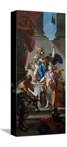 Scene from the Life of Hannibal, 18th Century-Claudio Francesco Beaumont-Stretched Canvas Print
