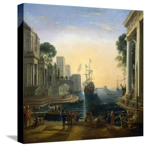 Harbour' after Claude Lorraine, C1820-Clause Lorraine-Stretched Canvas Print