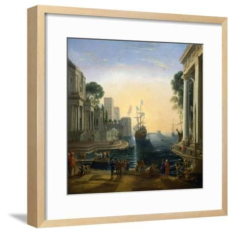 Harbour' after Claude Lorraine, C1820-Clause Lorraine-Framed Art Print