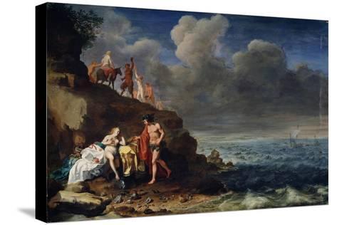 Bacchus and Ariadne on the Island of Naxos, 17th Century-Cornelis van Poelenburgh-Stretched Canvas Print