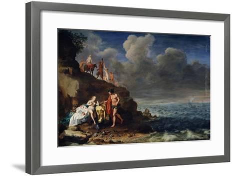 Bacchus and Ariadne on the Island of Naxos, 17th Century-Cornelis van Poelenburgh-Framed Art Print