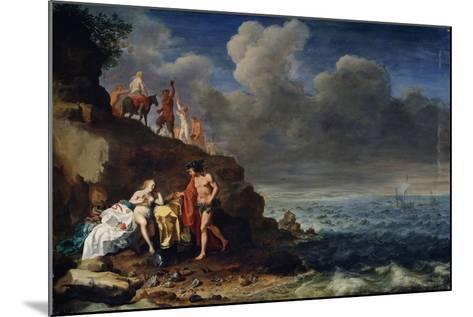 Bacchus and Ariadne on the Island of Naxos, 17th Century-Cornelis van Poelenburgh-Mounted Giclee Print