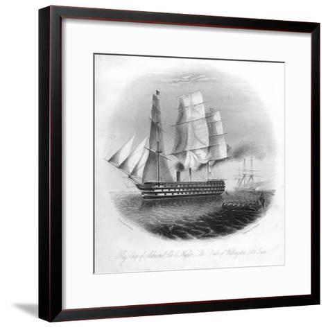 HMS Duke of Wellington, 1857-DJ Pound-Framed Art Print