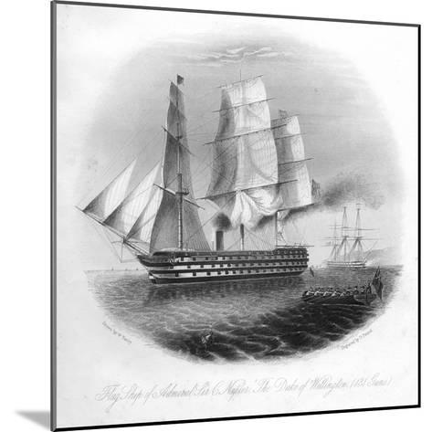 HMS Duke of Wellington, 1857-DJ Pound-Mounted Giclee Print