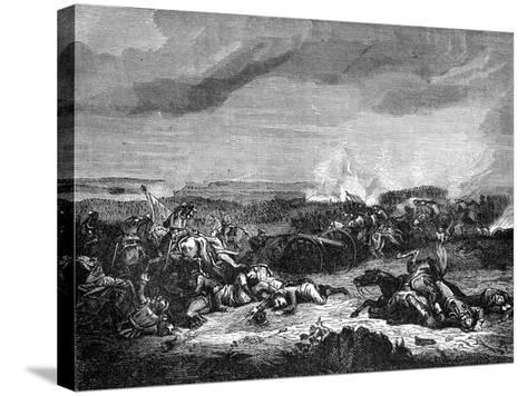 Battle of Champaubert, France, 10th February 1814 (1882-188)- Duvivier-Stretched Canvas Print
