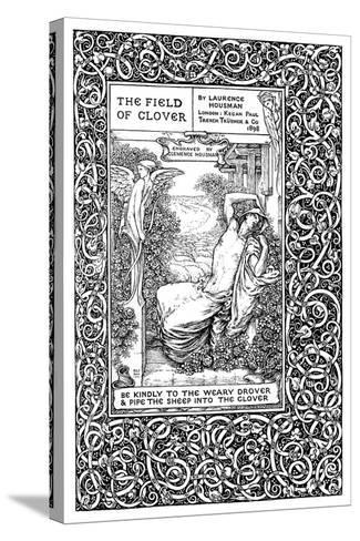 Title Page to the Field of Clover, 1899-Clemence Housman-Stretched Canvas Print