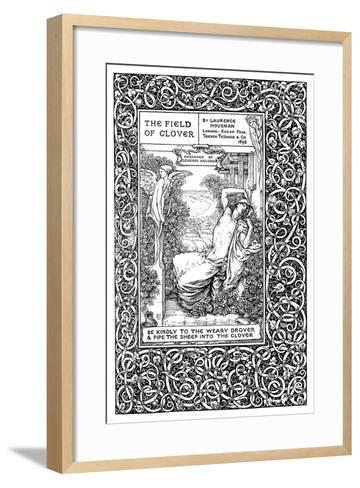 Title Page to the Field of Clover, 1899-Clemence Housman-Framed Art Print