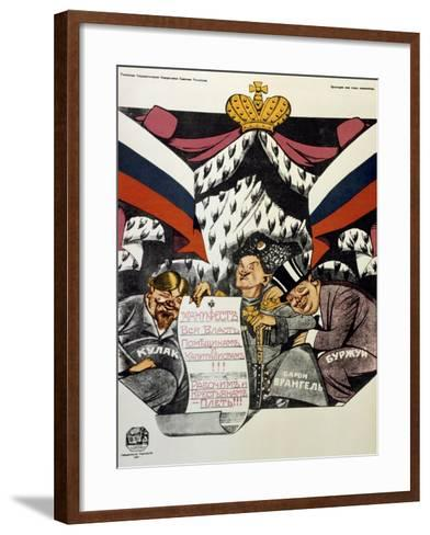 The Royal Manifesto, 1920-Deni Viktor Nikolaevich-Framed Art Print