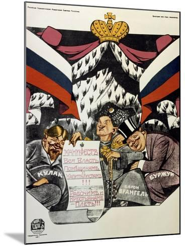 The Royal Manifesto, 1920-Deni Viktor Nikolaevich-Mounted Giclee Print
